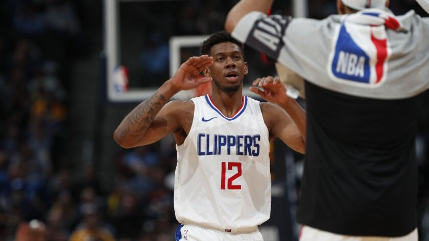 Los Angeles Clippers guard Tyrone Wallace (12)