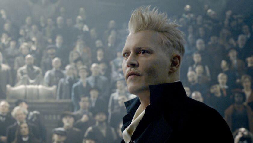 """Johnny Depp in """"Fantastic Beasts: Crimes of Grindelwald."""""""