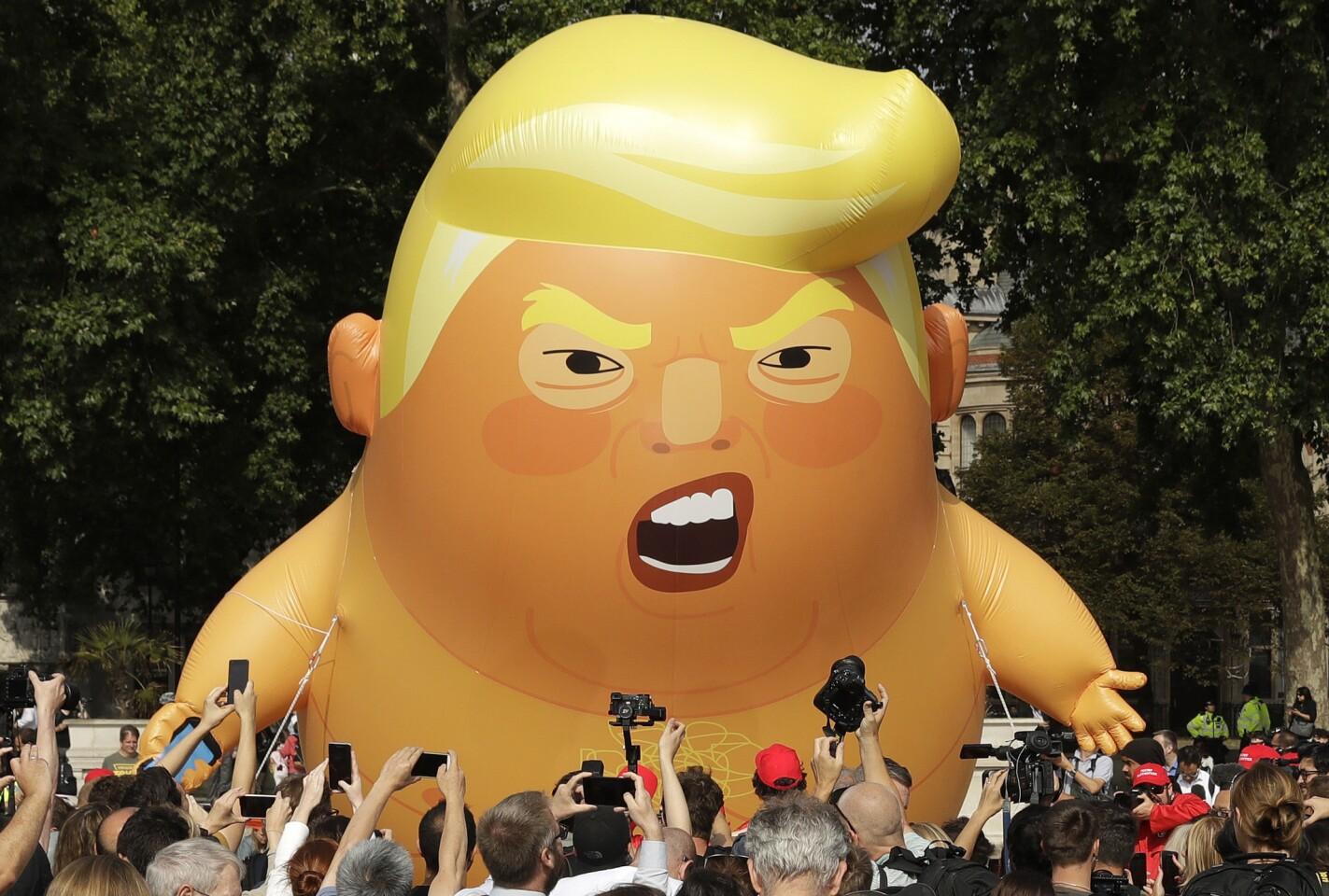 British protest Trump visit