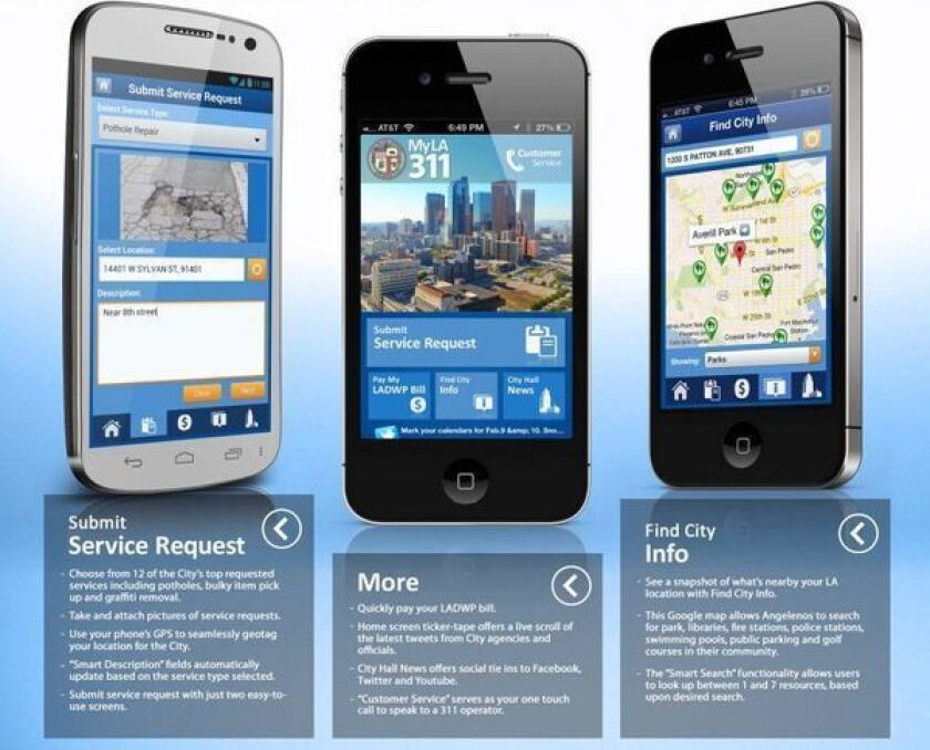 MyLA311 app lets users submit service requests from smartphones