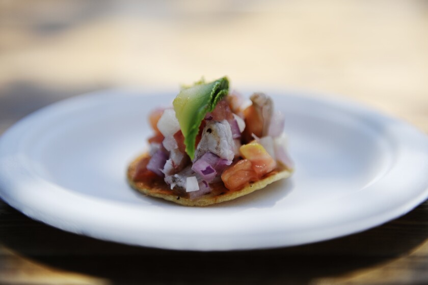 Ceviche from Coni' Seafood.