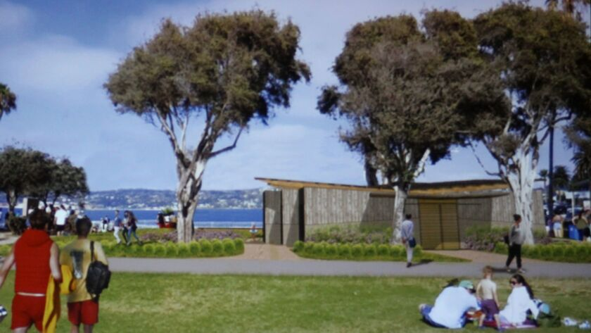 Renderings show how the new Cove Pavilion will look in Scripps Park.