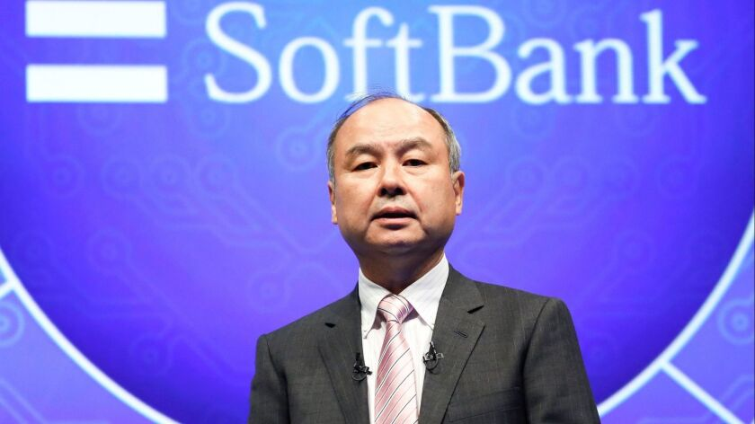 SoftBank Corp. Chief Executive Masayoshi Son speaks during a press conference in Tokyo last week.