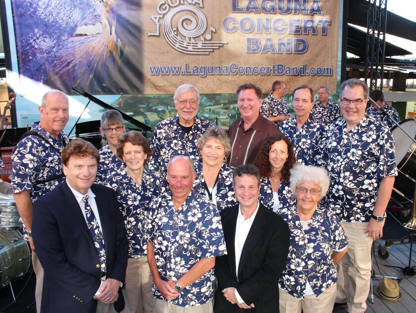 Members of the Laguna Concert Band Board and Executive Committee with city councilman Steve Dicterow.