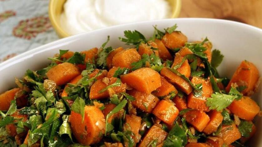 Spicy Moroccan carrot salad.