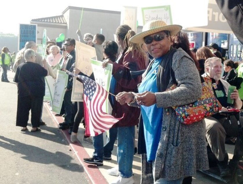 In Paramount, Wal-Mart Black Friday protest swells to 100 people