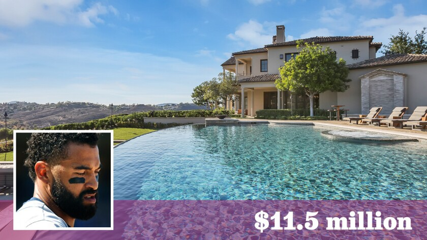 Former Dodgers and Padres outfielder Matt Kemp listed his overhauled estate in Poway for sale at $11.5 million.
