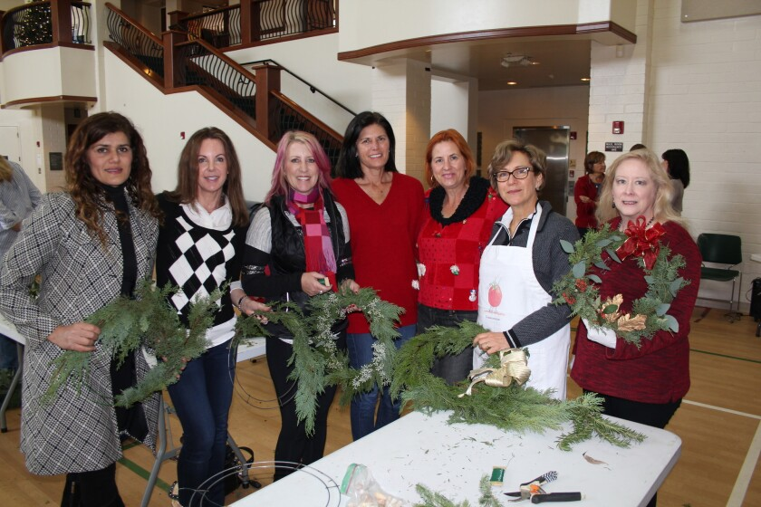 Guests at last year's RSF Garden Club wreathmaking workshop.