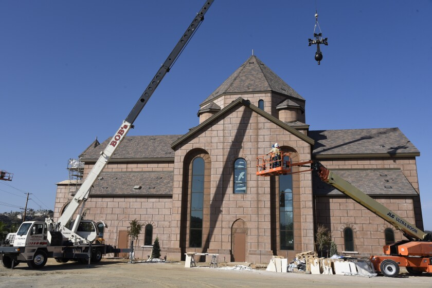 The church is nearing completion.