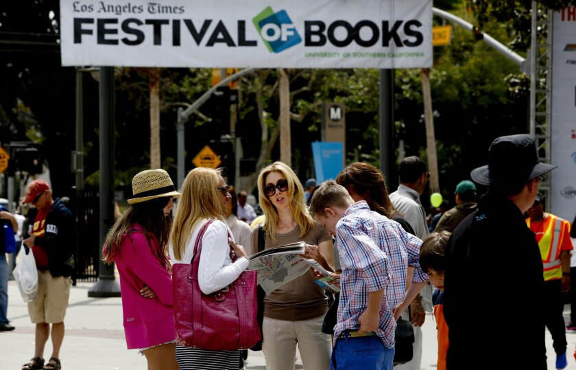 Book lovers gather at a previous year's Los Angeles Times Festival of Books.