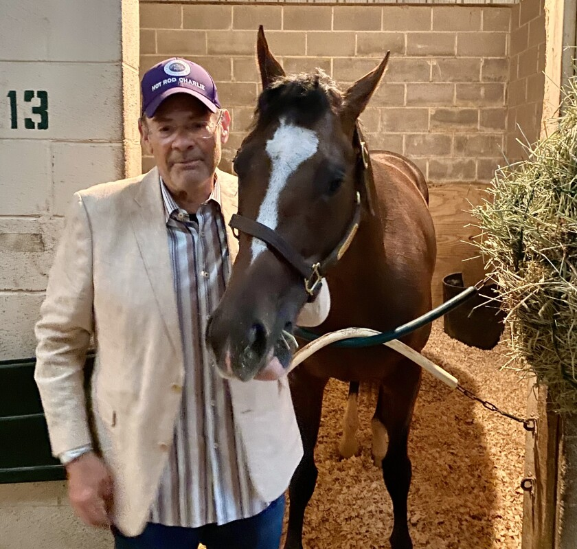 Kentucky Derby contender Hot Rod Charlie, owned by Del Mar's Bill Strauss entered the weekend as the fourth favorite.