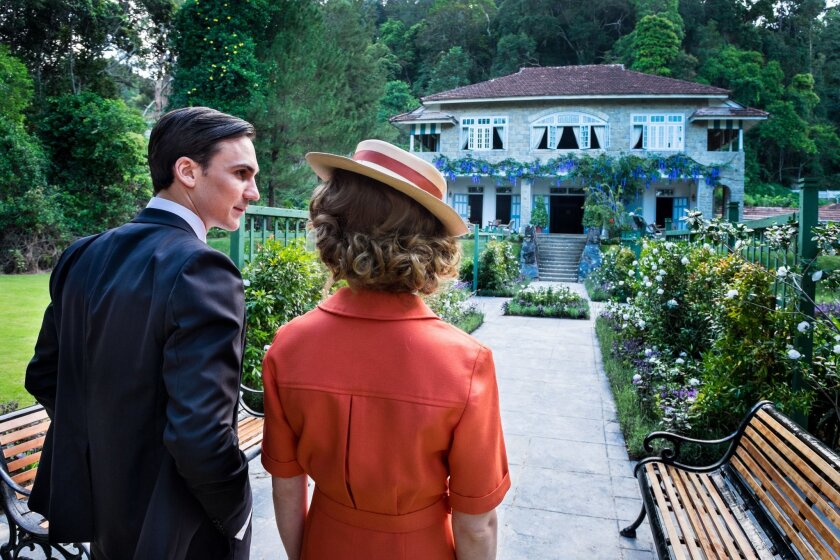 """This photo provided by PBS shows, Henry Lloyd-Hughes, left, as Ralph Whelan and Jemima West as Alice Whelan, in Masterpiece's """"Indian Summers: Part 1."""" The drama series airs Sundays, Sept. 27 through Nov. 22, 2015, at 9 p.m. EDT. (Matt Brandon, Joss Barratt/PBS/Masterpiece via AP)"""