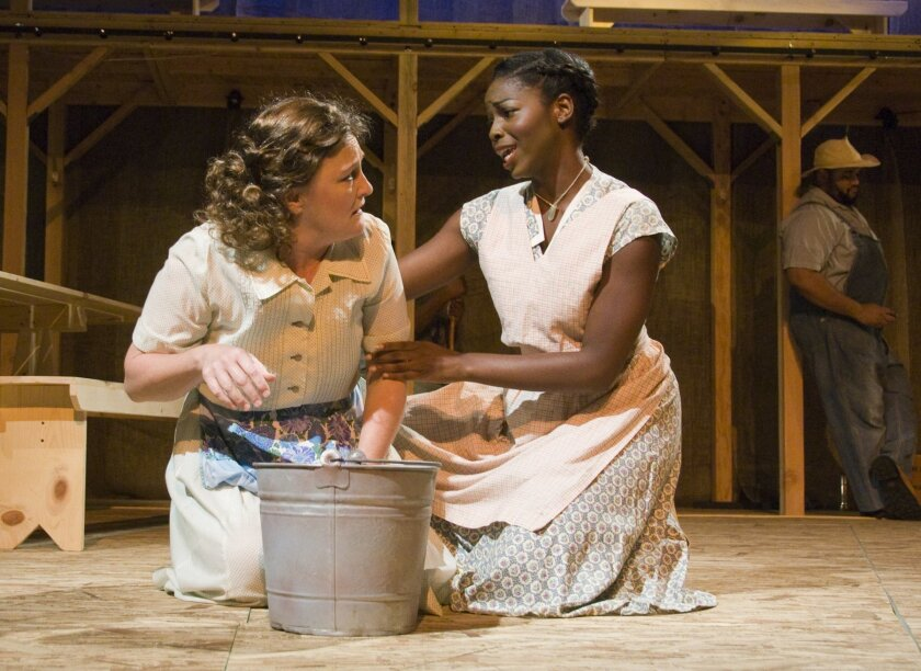"""Deborah Gilmour Smyth and Adrian Blount in """"The Glory Man."""""""
