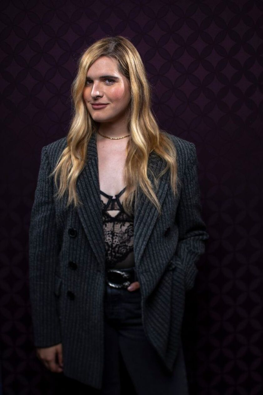 """Hari Nef from the film """"Assassination Nation"""" photographed in the L.A. Times Photo and Video Studio at Comic-Con 2018."""