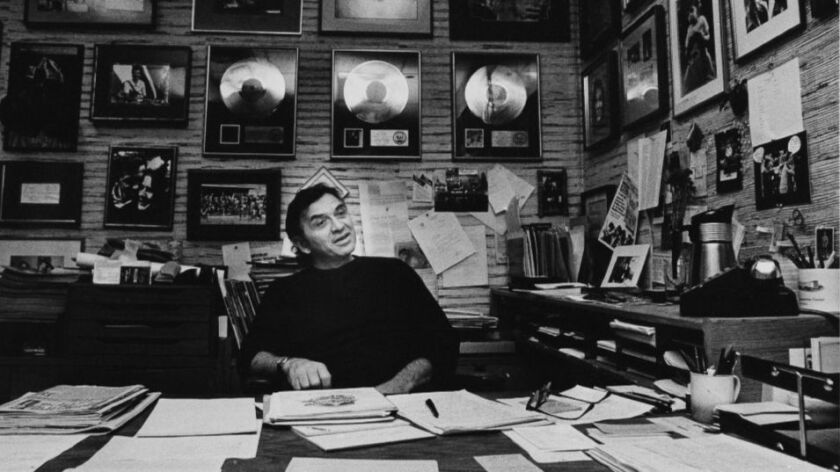 Legendary rock music impresario Bill Graham is pictured in 1982 in his San Francisco office, from which he guided his vast concert and promotion business. He died He died in a 1991 helicopter crash.