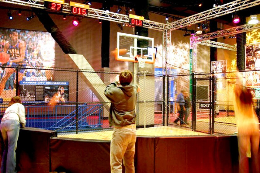 Become a basketball star at the College Basketball experience, which also houses the National Collegiate Basketball Hall of Fame. It's in Kansas City, Mo., one of the cities hosting NCAA games.