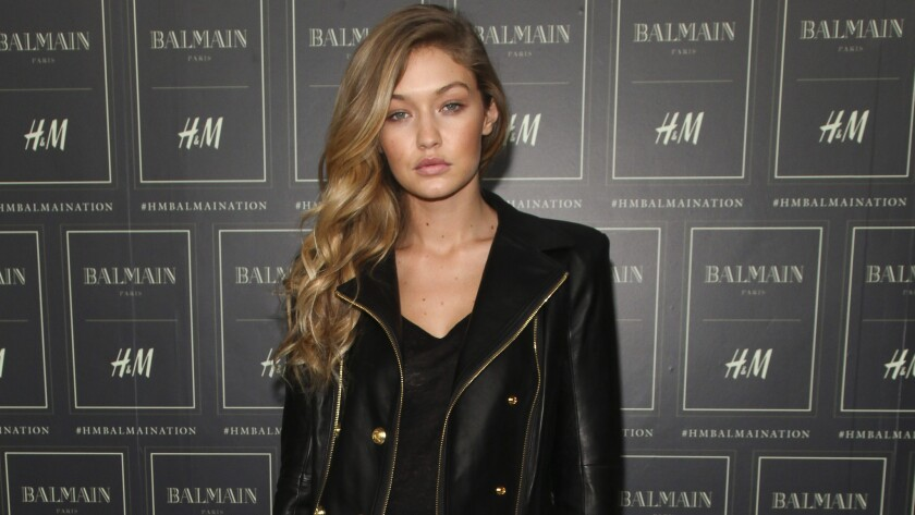 Model Gigi Hadid confronted a Chanel runway crasher Tuesday.