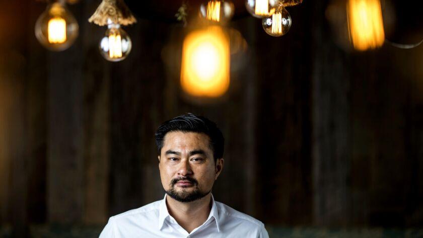 LOS ANGELES, CALIF. - MAY 01: CEO Joshua Liang poses for a portrait at Ono Hawaiian BBQ near the Uni