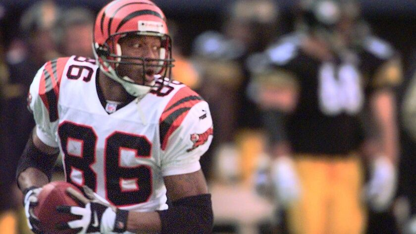 After playing for Kearny and SDSU, Darnay Scott appeared in 124 NFL games with the Bengals, Jaguars and Cowboys, catching 408 balls for 6,193 yards and 37 TDs.