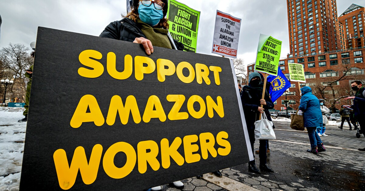 Op-Ed: How workers at one Amazon warehouse could change the union landscape