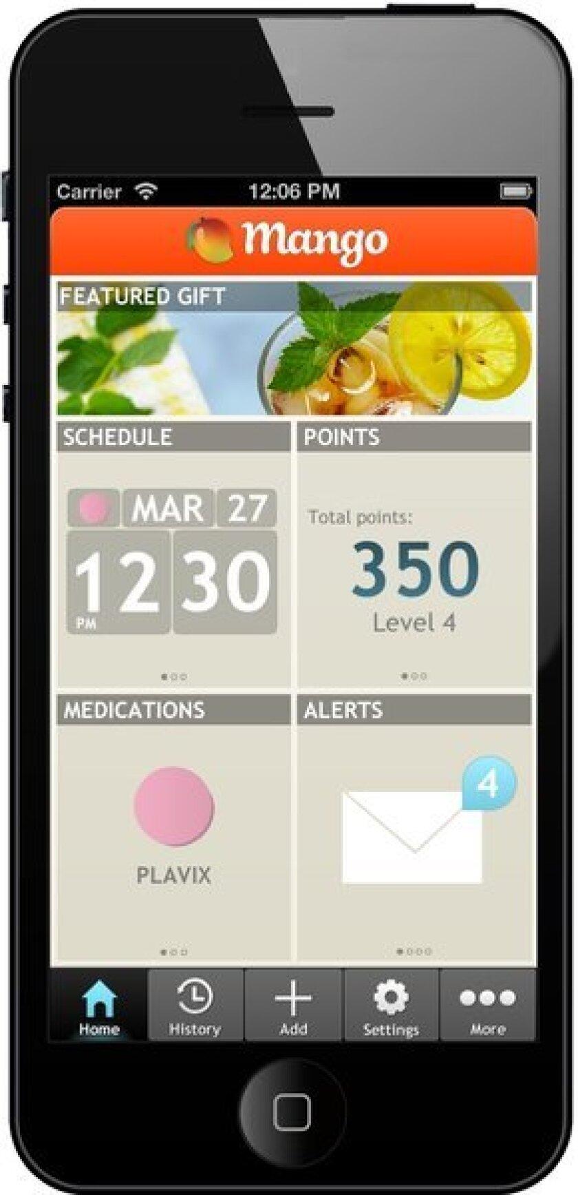 The Mango Health app home screen