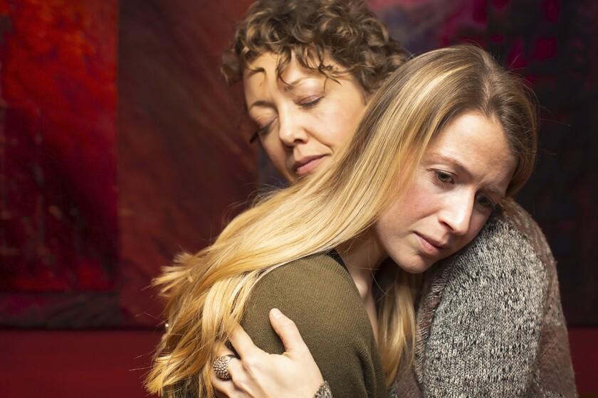 """Sydney Berk and Melanie Cruz in """"Never Not Once"""""""