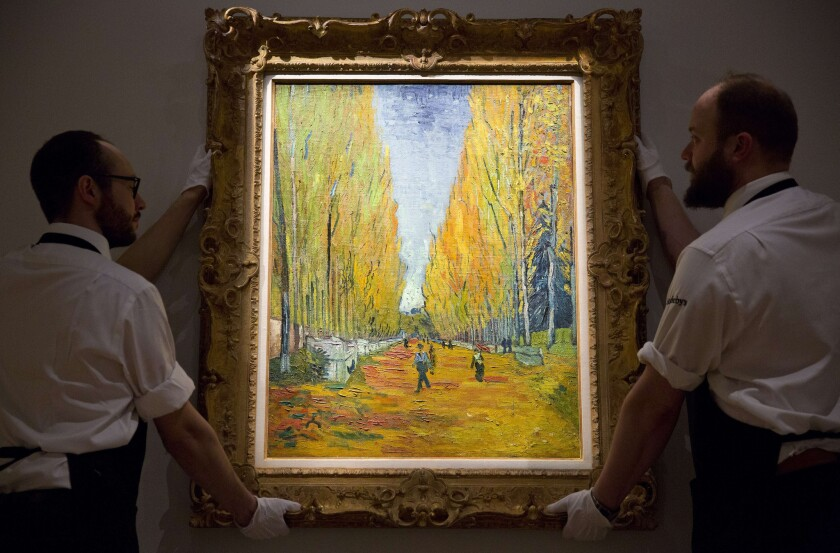'L'Allee des Alyscamps' by Vincent van Gogh