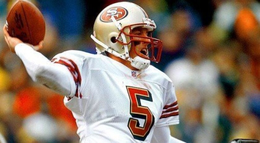 Jeff Garcia played for the San Francisco 49ers from 1999 to 2003.