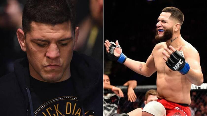 Nick Díaz (i) y Jorge Masvidal se enfrentan en marzo en Las Vegas. (Cortesía)