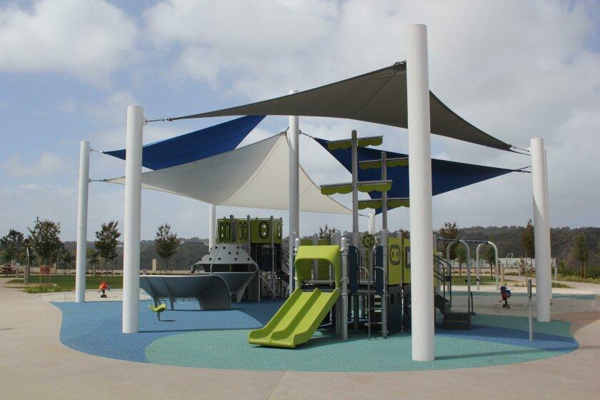 Coast View Park includes nautical theme playground equipment.