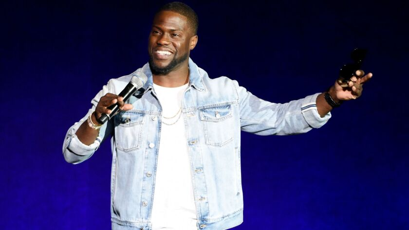 """Kevin Hart performing in Las Vegas in 2016. His book is """"I Can't Make This Up."""""""