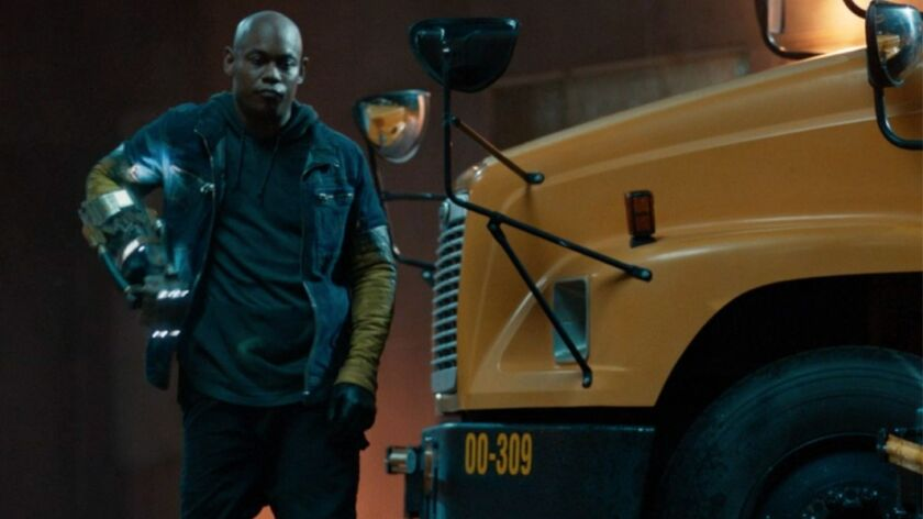 "Bokeem Woodbine in ""Spider-Man: Homecoming."""