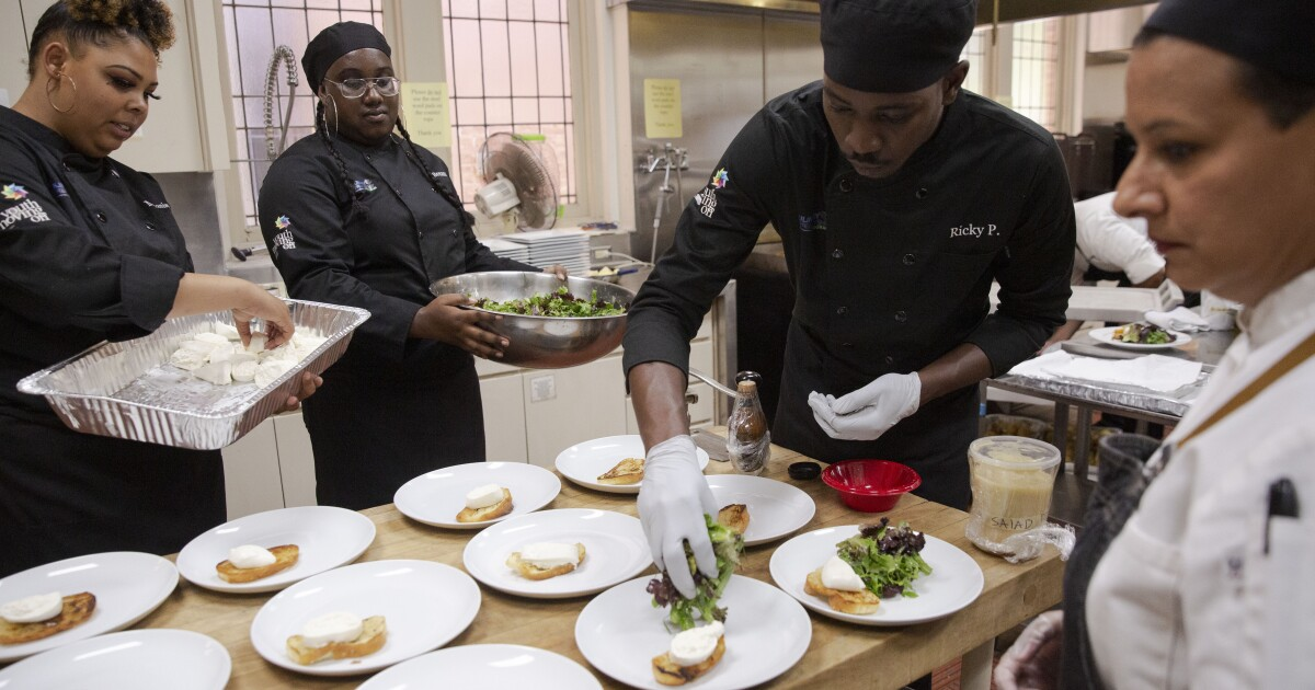 Column: A dinner to remember, made by culinary students who are aging out of foster care