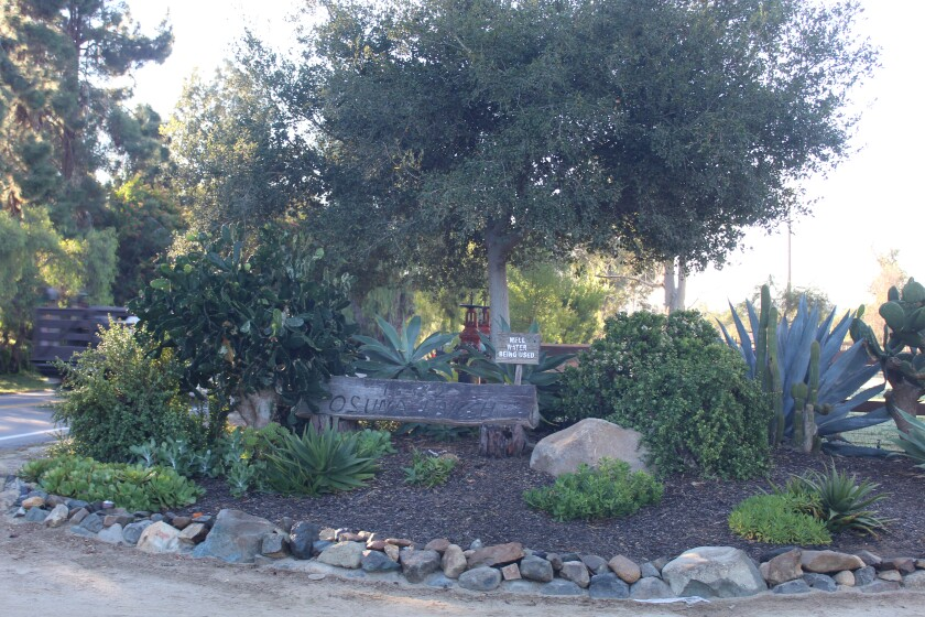 The entrance to the Rancho Santa Fe Association's Osuna Ranch.