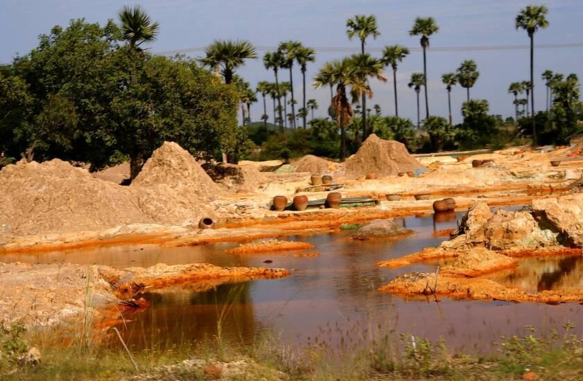 Myanmar farmers protest land seizures for copper mine