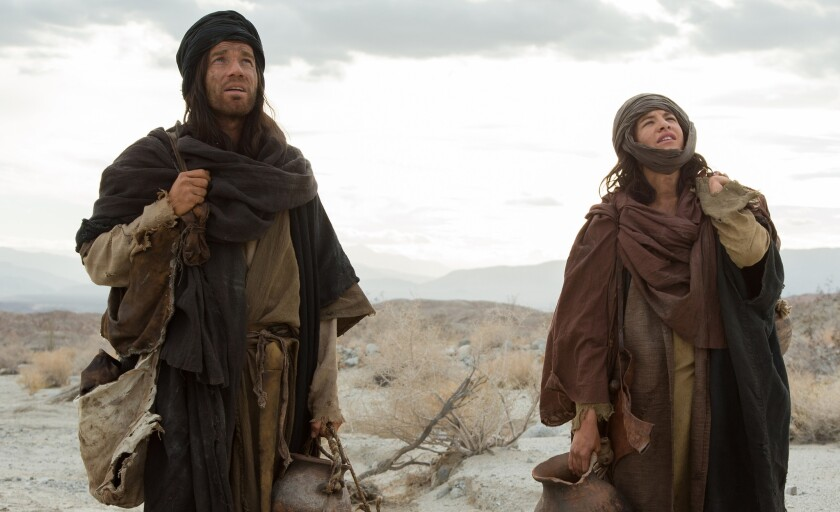 "Ewan McGregor, left, and Tye Sheridan costar in the film ""Last Days in the Desert."""