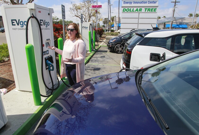 Electric vehicle charging customer