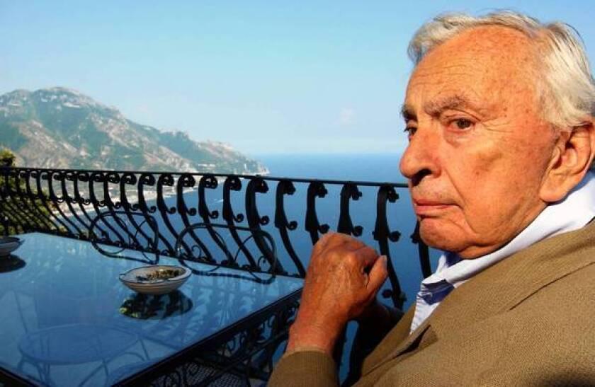 Author Gore Vidal on his terrace in Ravello, on Peninsula of Sorrento, Italy, on Aug. 7, 2004.