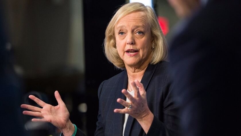"Meg Whitman said she is ""fully committed"" to leading HP Enterprise."