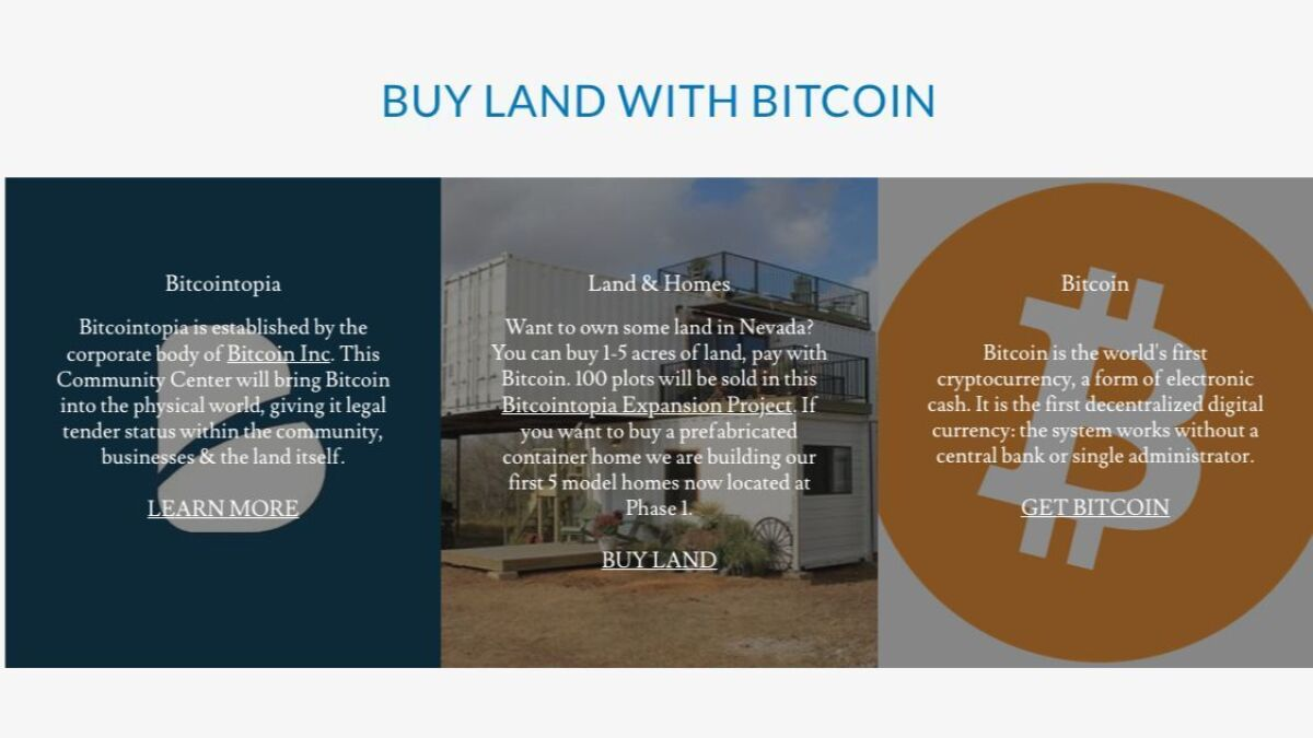 Bitcointopia: The cryptocurrency Utopia in the Nevada desert that