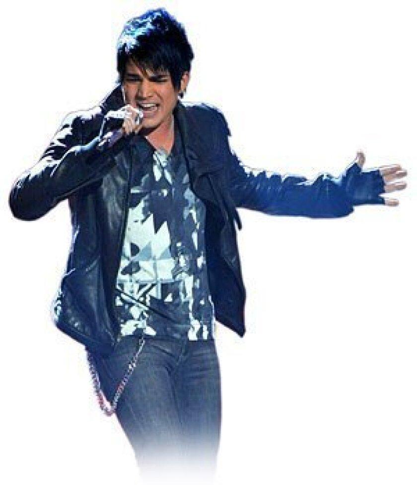 "Adam Lambert on ""American Idol."" (FOX)"
