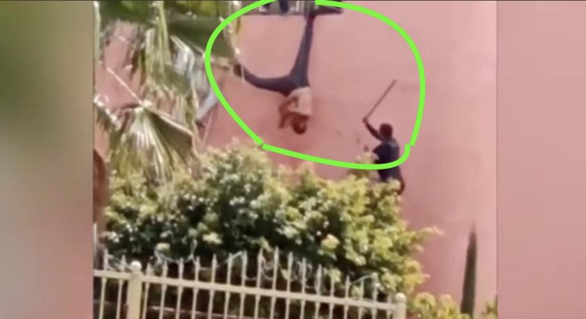 Así sometió un policía a un ladrón en Tonalá, México.