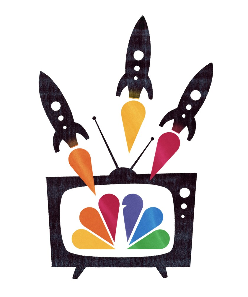 CAPTION: Illustration for ?NBC's 'Must See TV' team of the '90s, still a creative force today.? FOR