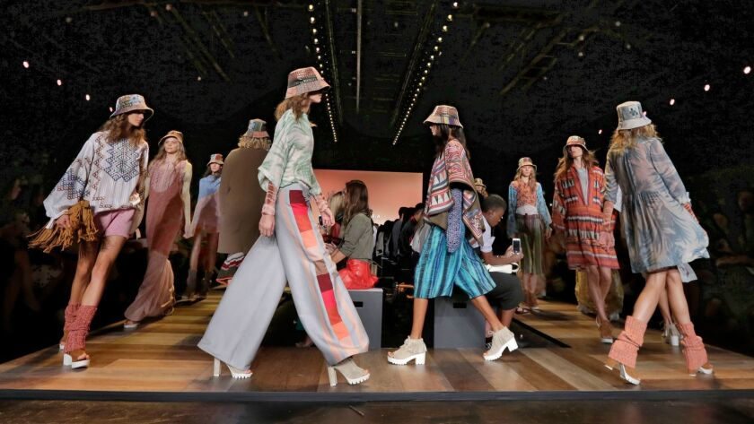 BCBG Max Azria failed to keep up as shoppers turned both increasingly online and to lower-priced fast-fashion rivals, analysts say. Above, its spring 2016 collection modeled during Fashion Week in New York.