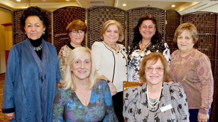 Grant Awardee, the Armenian Relief Society, had a large contingent at the Glendale Soroptimist lunch