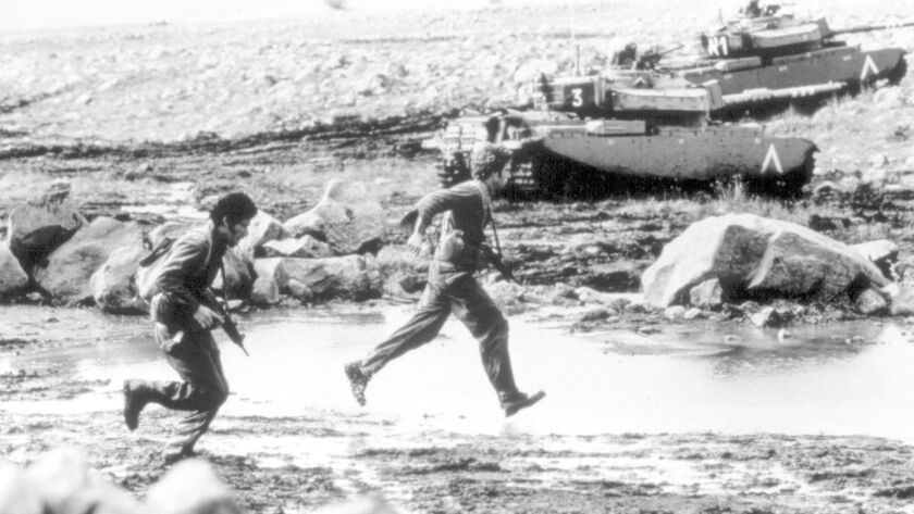"""A scene from the movie """"Kippur,"""" about the 1973 Yom Kippur War."""