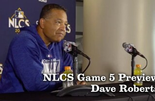 Dave Roberts discusses Chris Taylor's play and preparing for Game 5