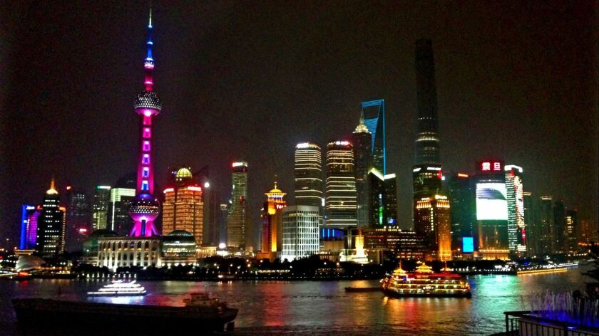SHANGHAI, CHINA: The high-rises of Pudong, on the east bank of the Huangpu River in central Shangha
