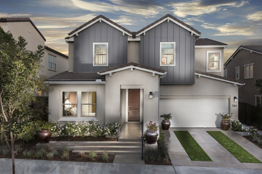 Single-family detached homes at Seville, in Chula Vista, range from 2,498 to 2,949 square feet with four to five bedrooms. Prices now start from the mid-$600,000s.