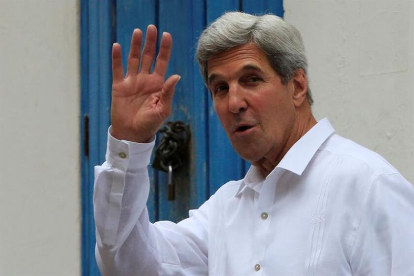 El secretario de Estado, John Kerry, viajará a Roma y a la Ciudad del Vaticano los días 2 y 3 de diciembre, donde mantendrá reuniones bilaterales y participará en los Diálogos Mediterráneos en la capital italiana, informaron fuentes diplomáticas. EFE/ARCHIVO